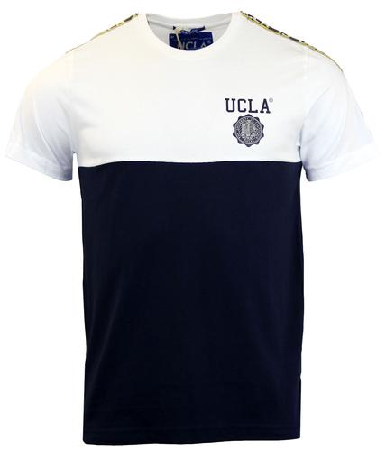 Weisman UCLA Retro Block Panel Tape Sleeve T-Shirt