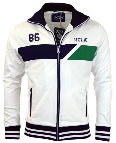 UCLA RETRO MOD 70s TRACK TOP WHITE