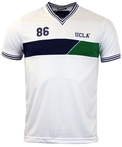 Dorral UCLA Retro Indie V-Neck Chest Panel T-shirt