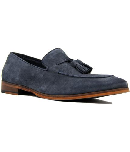 paolo vandini northbourne retro mod loafers navy