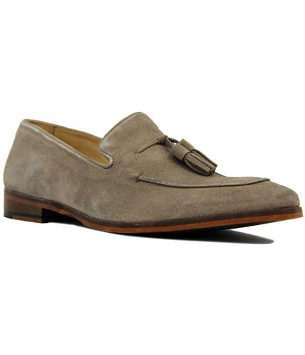 paolo vandini northbourne retro mod loafers taupe