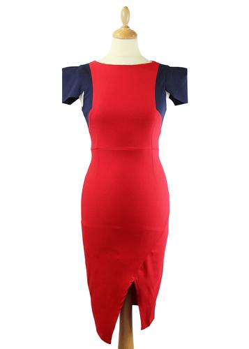 VESPER DRESS EVORA RETRO 50S PENCIL DRESS RED