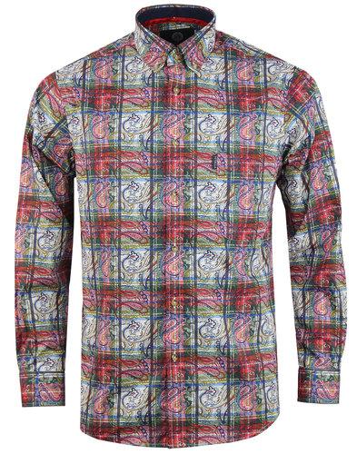 Paisley Tartan VIYELLA 60s Mod Button Down Shirt