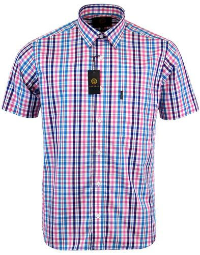 VIYELLA Retro Mod Open Check Short Sleeve Shirt