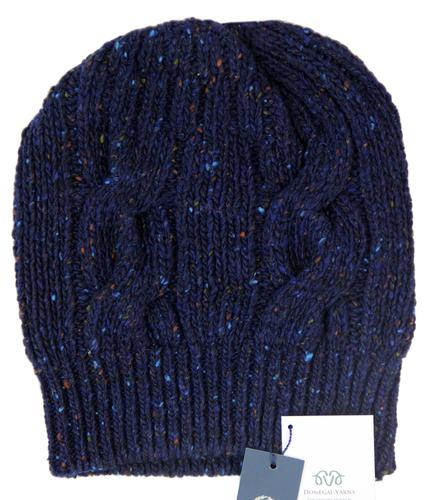 VIYELLA RETRO HERITAGE DONEGAL CABLE KNIT HAT