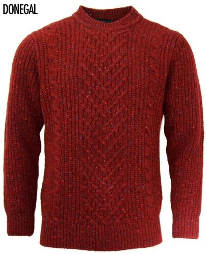 VIYELLA RETRO HERITAGE DONEGAL CABLE KNIT JUMPER