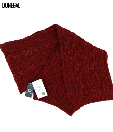 VIYELLA RETRO MOD CABLE KNIT DONEGAL SCARF
