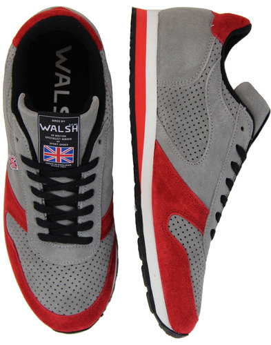 walsh seoul 88 retro made in england trainers grey
