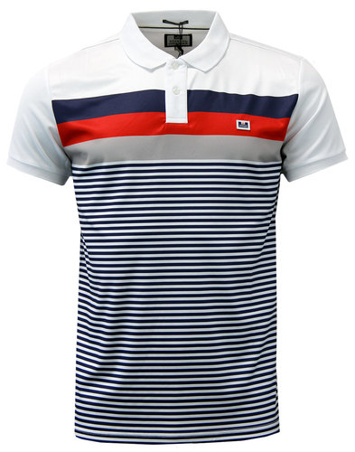 weekend offender moselle retro 80s mod stripe polo