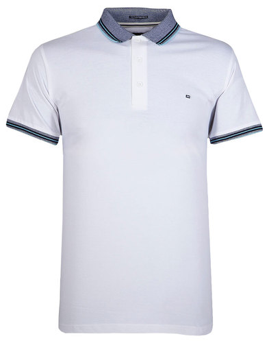 Vesper WEEKEND OFFENDER Men's Retro Mod Polo White