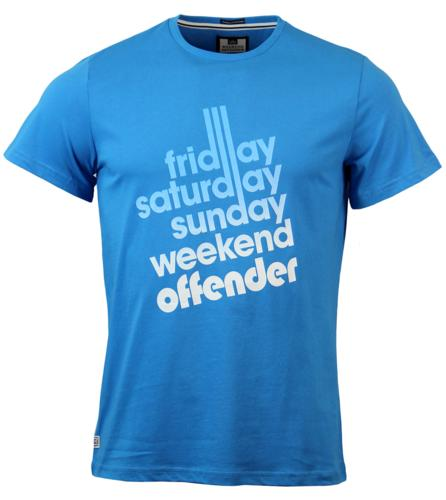 WEEKEND OFFENDER MOD CASUALS SIXTY HOURS T-SHIRT