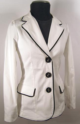 EC STAR WOMENS RETRO MOD TUX JACKET CLOTHING 60s