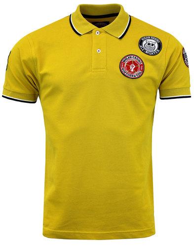 wigan casino northern soul multi badge polo gold