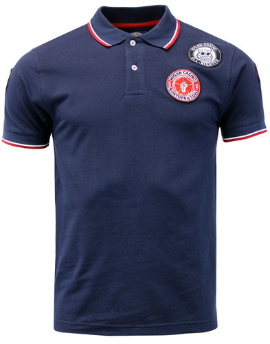 wigan casino northern soul multi badge polo navy