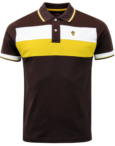 wigan casino northern soul mod block stripe polo