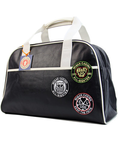 wigan casino northern soul mod bowling bag black