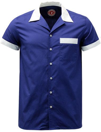 WIGAN CASINO Retro Mod Northern Soul Bowling Shirt