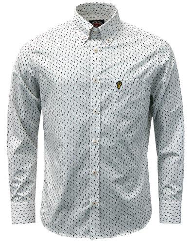 wigan casino retro mod northern soul chevron shirt