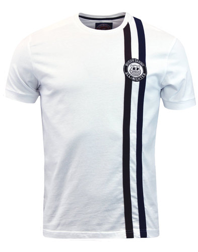wigan casino northern soul racing stripe tee white