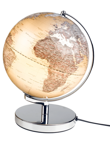 RETRO GLOBE LIGHT WORLD GLOBE LAMP WILD AND WOLF