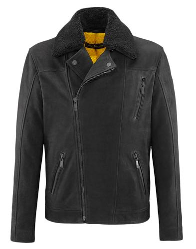 BARNEY AND TAYLOR LEATHER JACKET SUEDE WILMSLOW