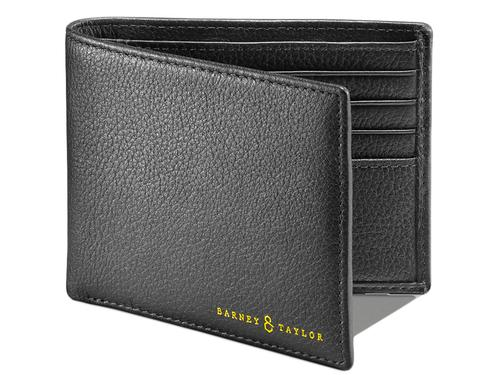 BARNEY AND TAYLOR LEATHER WALLETS WOODLEY BLACK
