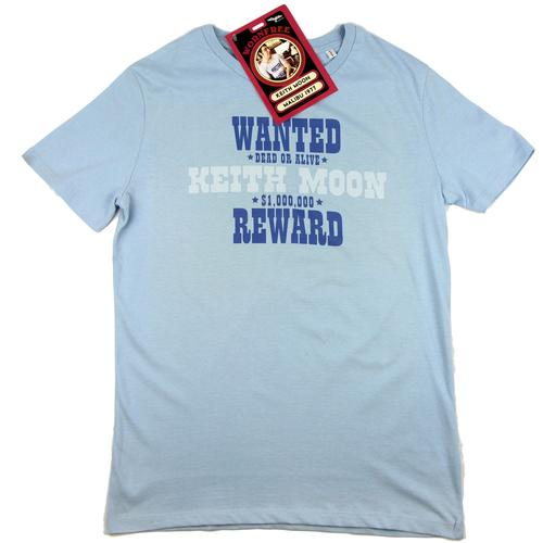 WORN FREE Keith Moon Wanted Retro The Who T-Shirt