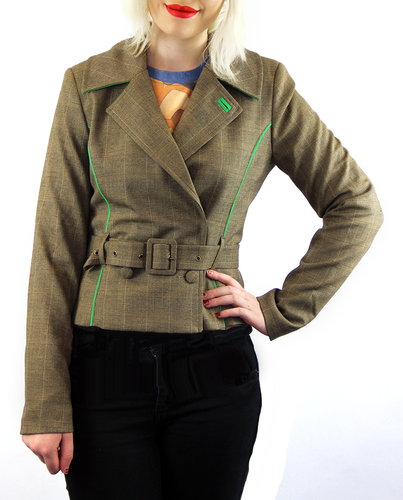 WOW TO GO RETRO 70s MOD TWEED BLAZER WOMENS