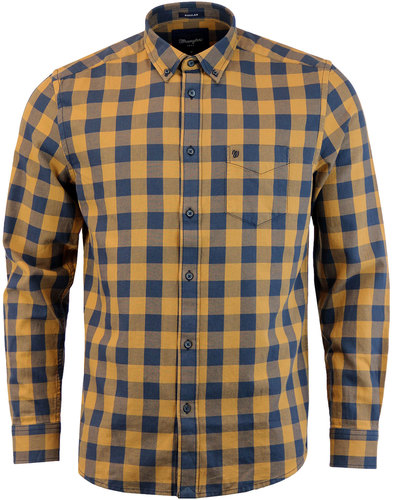 WRANGLER Retro Indie Button Down Gingham Shirt