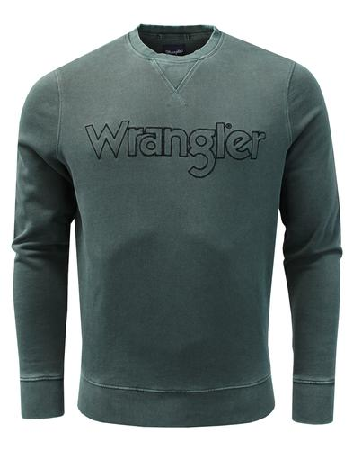 wrangler authentic crew neck sweater green mod