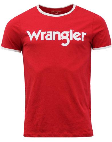 WRANGLER Kabel Retro 70s Crew Ringer Logo Tee (JR)