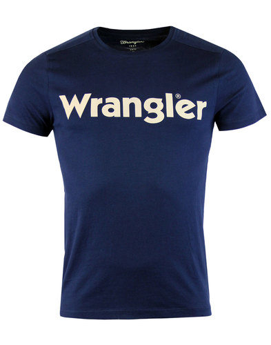 wrangler retro indie crew neck graphic tee navy