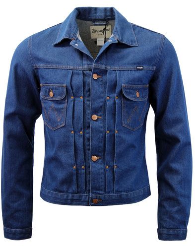 WRANGLER Men's Mod Pleat Front Denim Retro Jacket