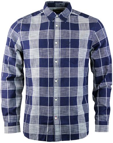 Wrangler weave check shirt indigo
