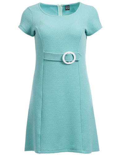 mademoiselle yeye jasmin retro mod faux belt dress