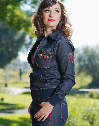 mademoiselle yeye svana retro 70s mod denim jacket