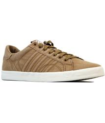 K SWISS BELMONT RETRO COURT STYLE TRAINERS TOBACCO