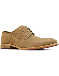 paolo vandini ronnie 60s mod suede shoes mushroom