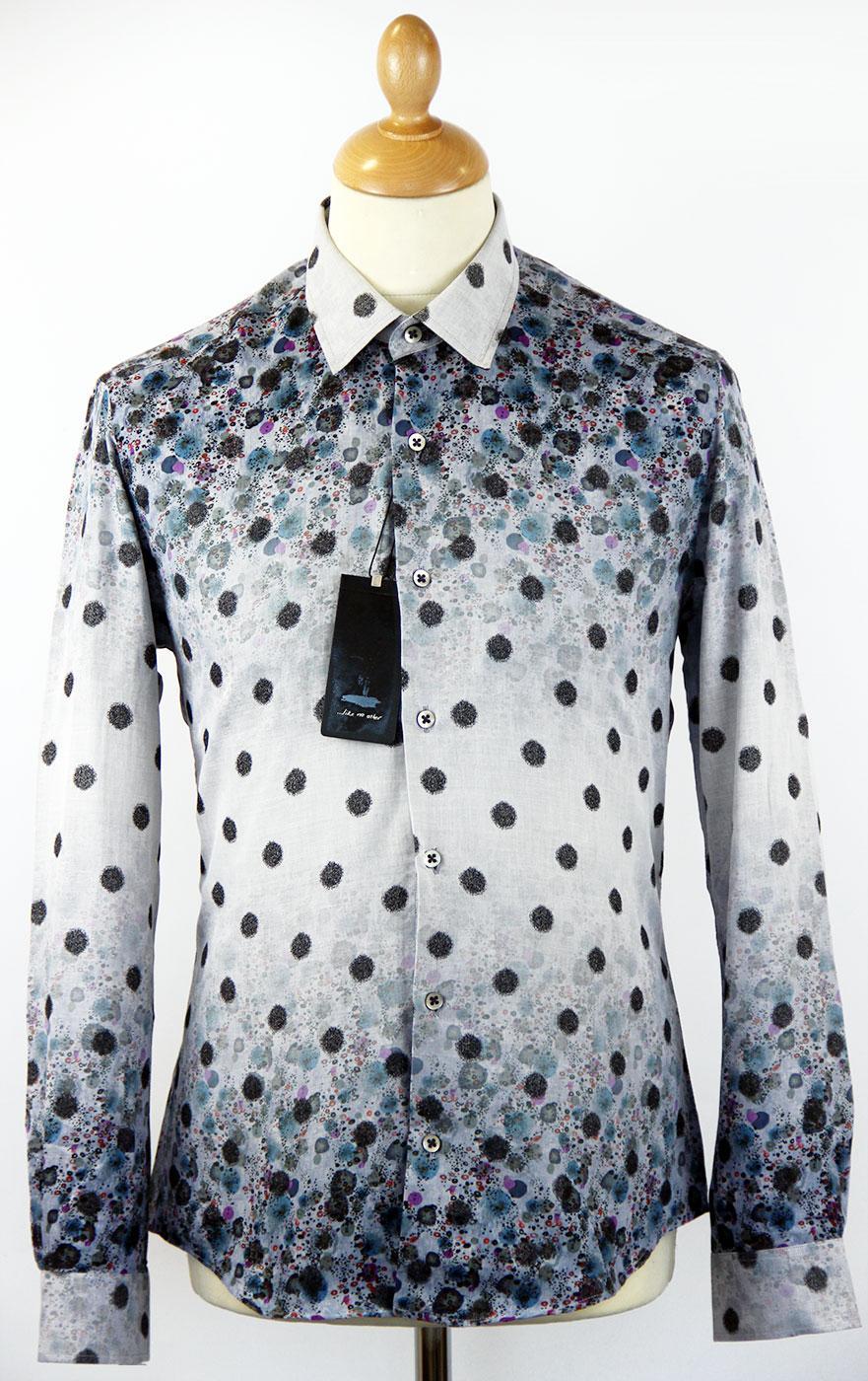 Medusa 1 LIKE NO OTHER Mod Smudgy Polka Dot Shirt