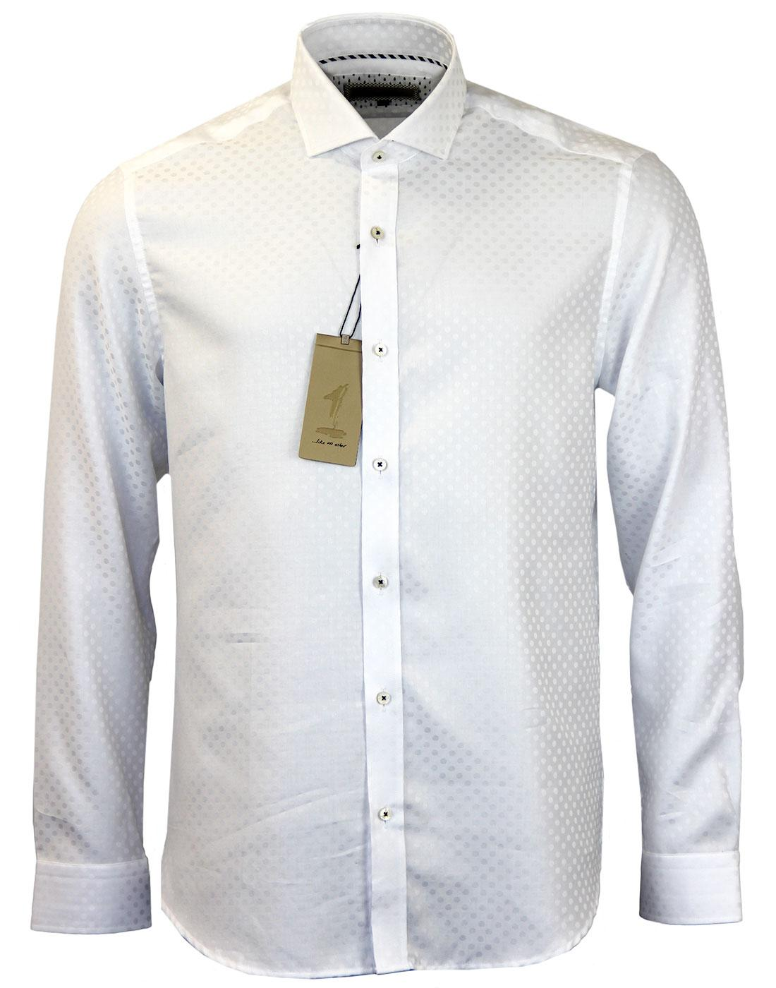 Tarsi 1 LIKE NO OTHER Tonal Polka Dot Mod Shirt