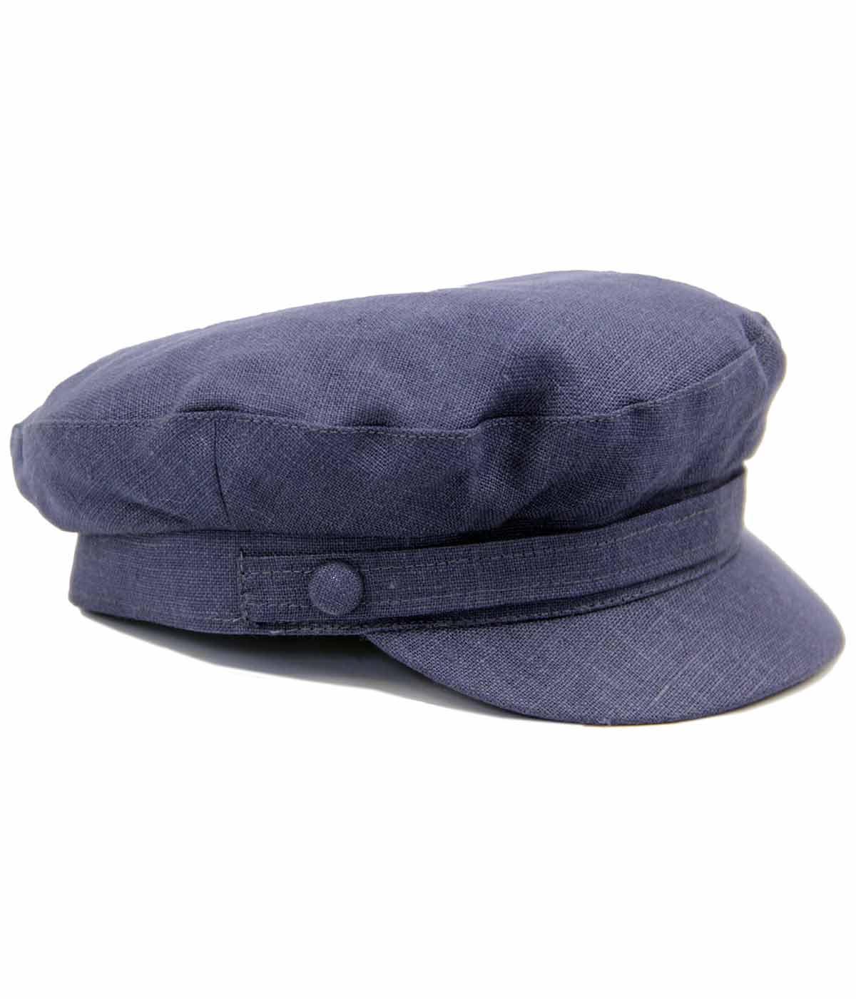 FAILSWORTH Retro Mod Irish Linen Beatle Hat NAVY