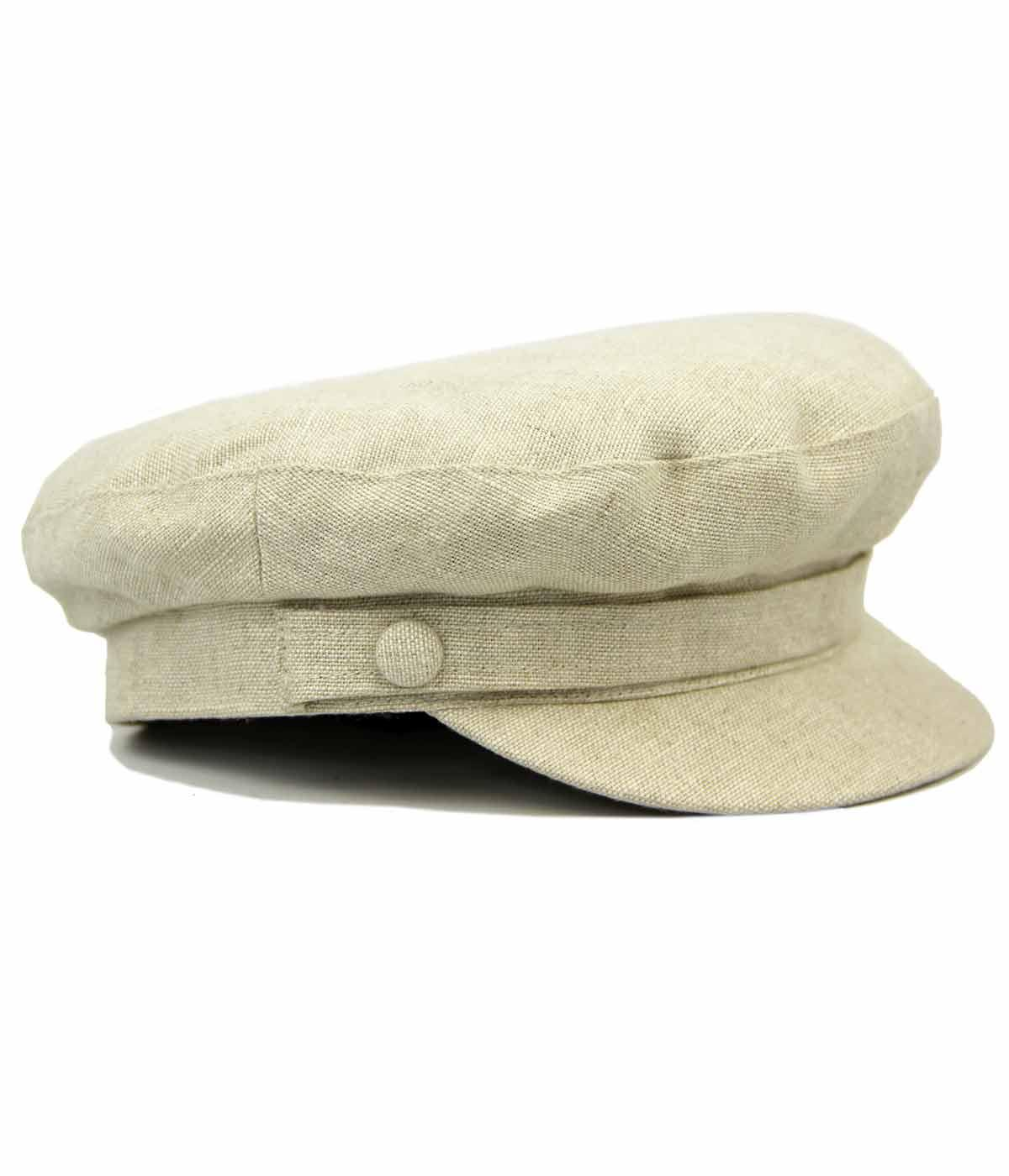 FAILSWORTH 60s Mod Irish Linen Beatle Hat NATURAL