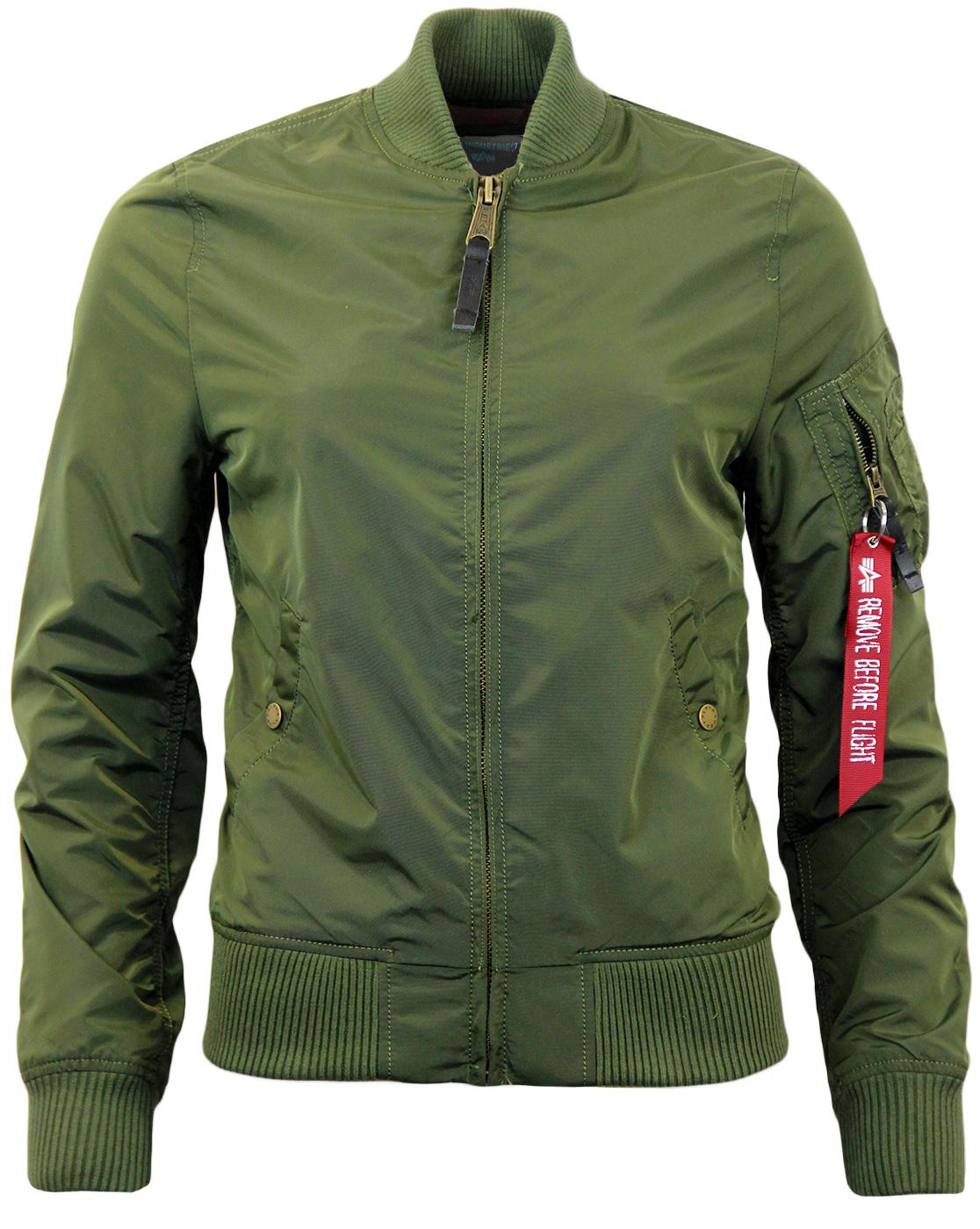 MA1 TT ALPHA INDUSTRIES Womens Bomber Jacket DG