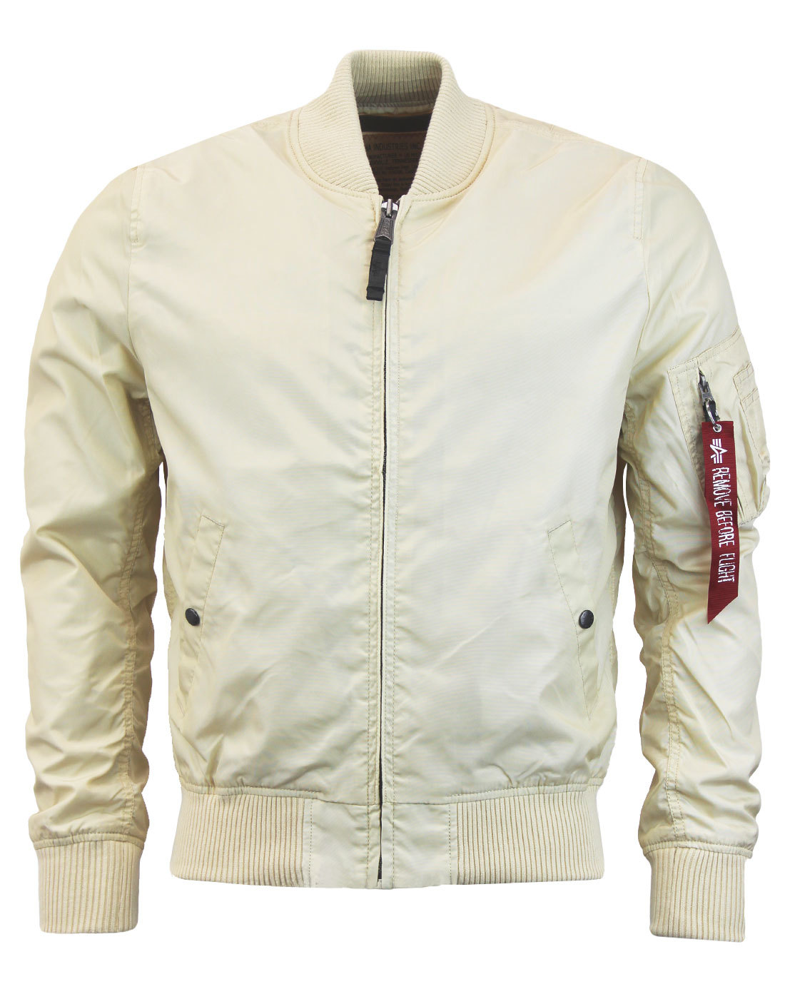 MA1 TT ALPHA INDUSTRIES Mod Bomber Jacket CARAMEL