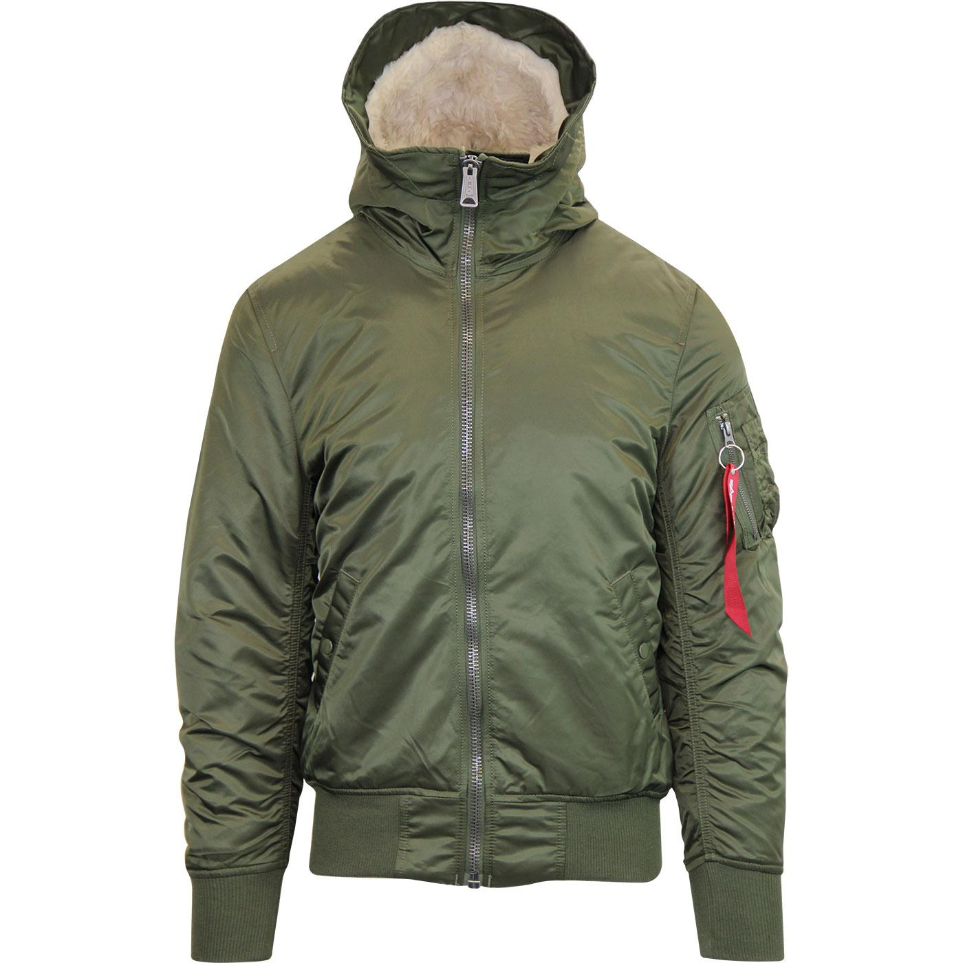 ALPHA INDUSTRIES MA-1 Hooded Mod Bomber Jacket