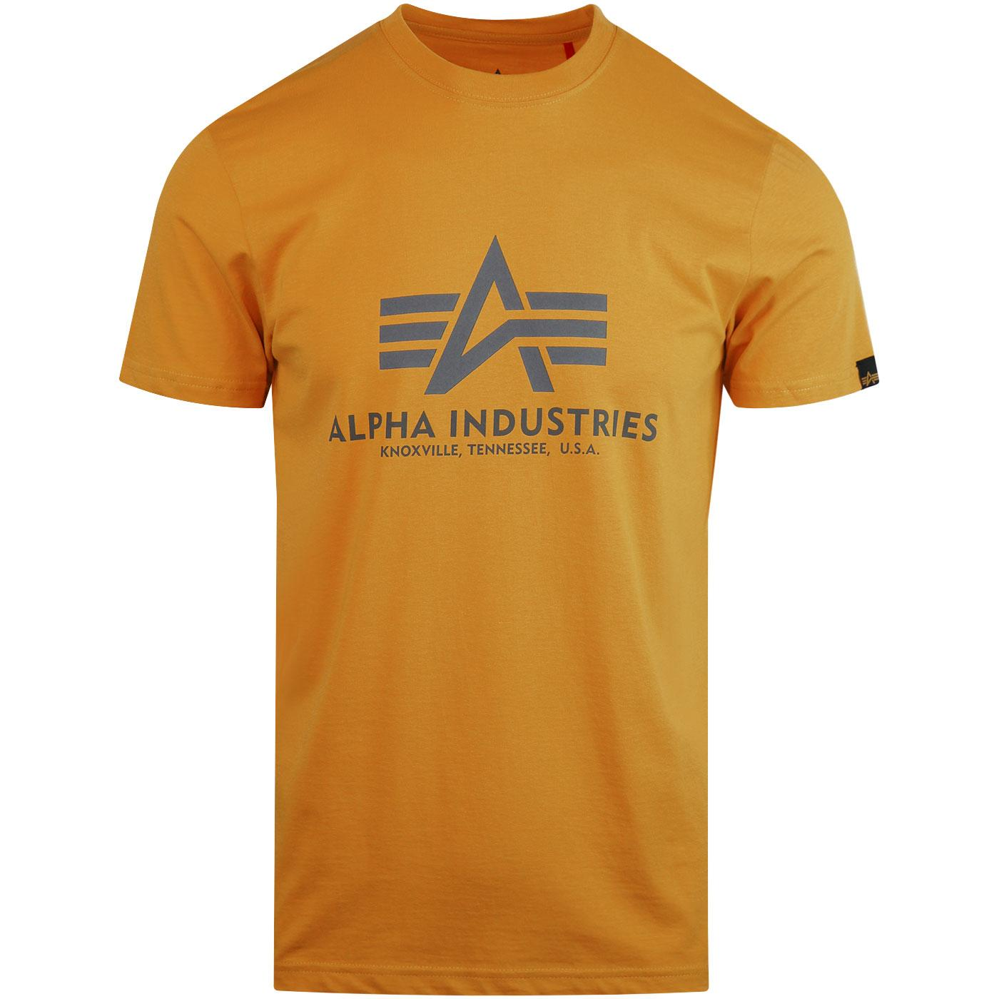 ALPHA INDUSTRIES Retro Basic Logo Tee Wheat