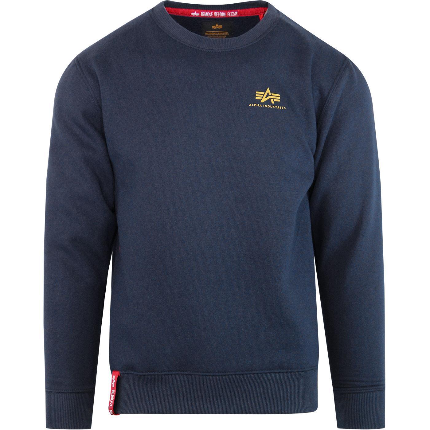 ALPHA INDUSTRIES Basic Small Logo Sweater New Navy