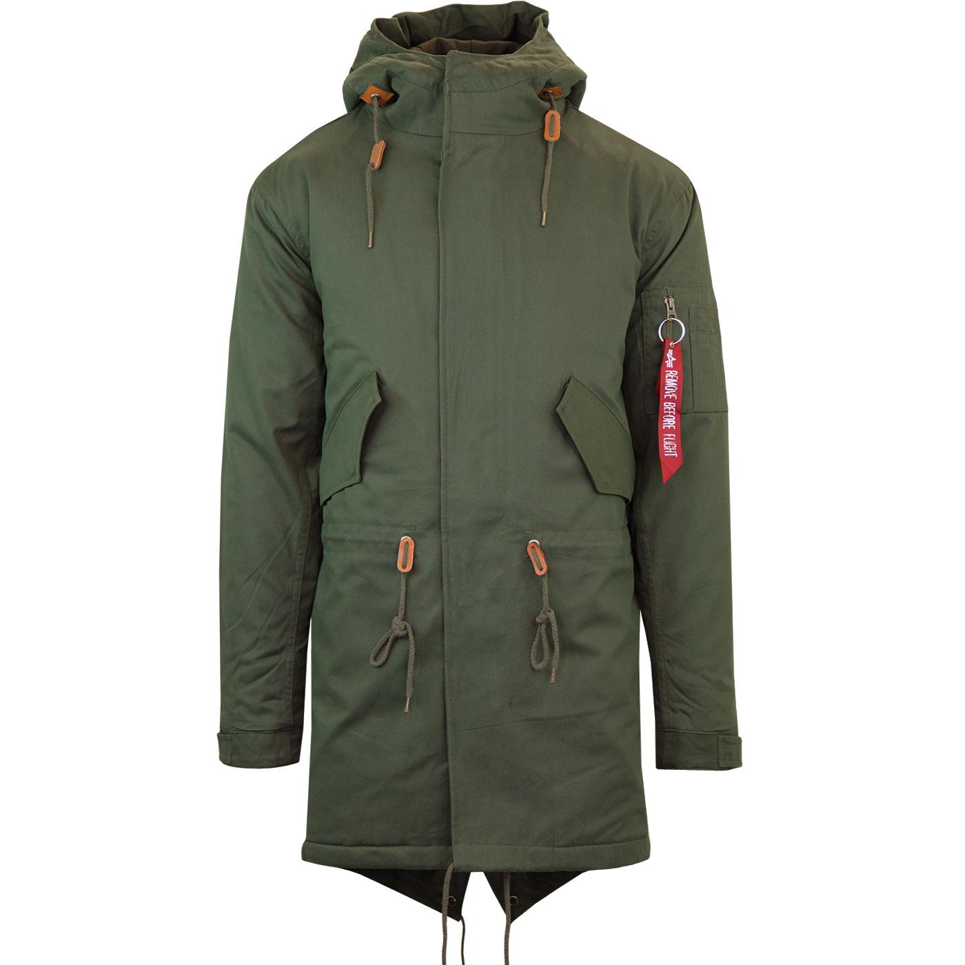 ALPHA INDUSTRIES M65 Vintage Hooded Fishtail Parka