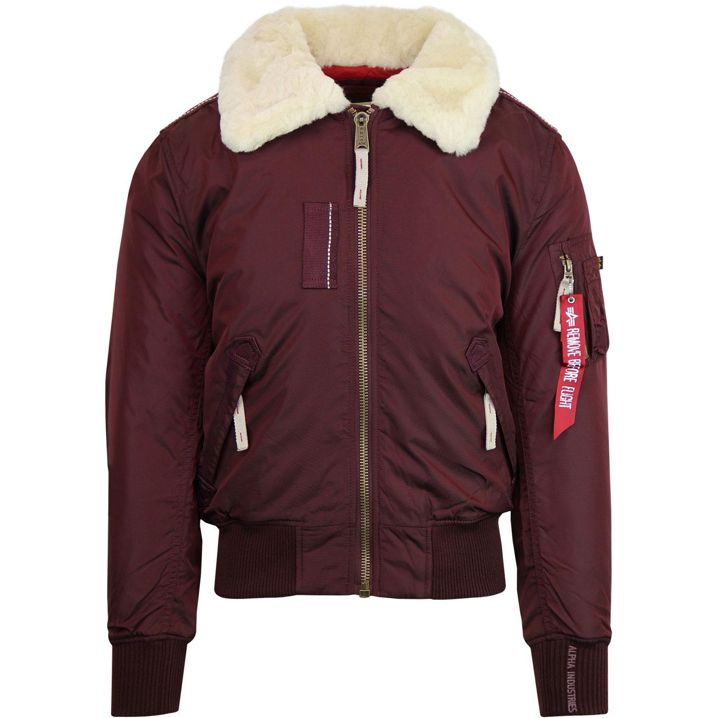 Injector III ALPHA INDUSTRIES Flight Jacket MAROON