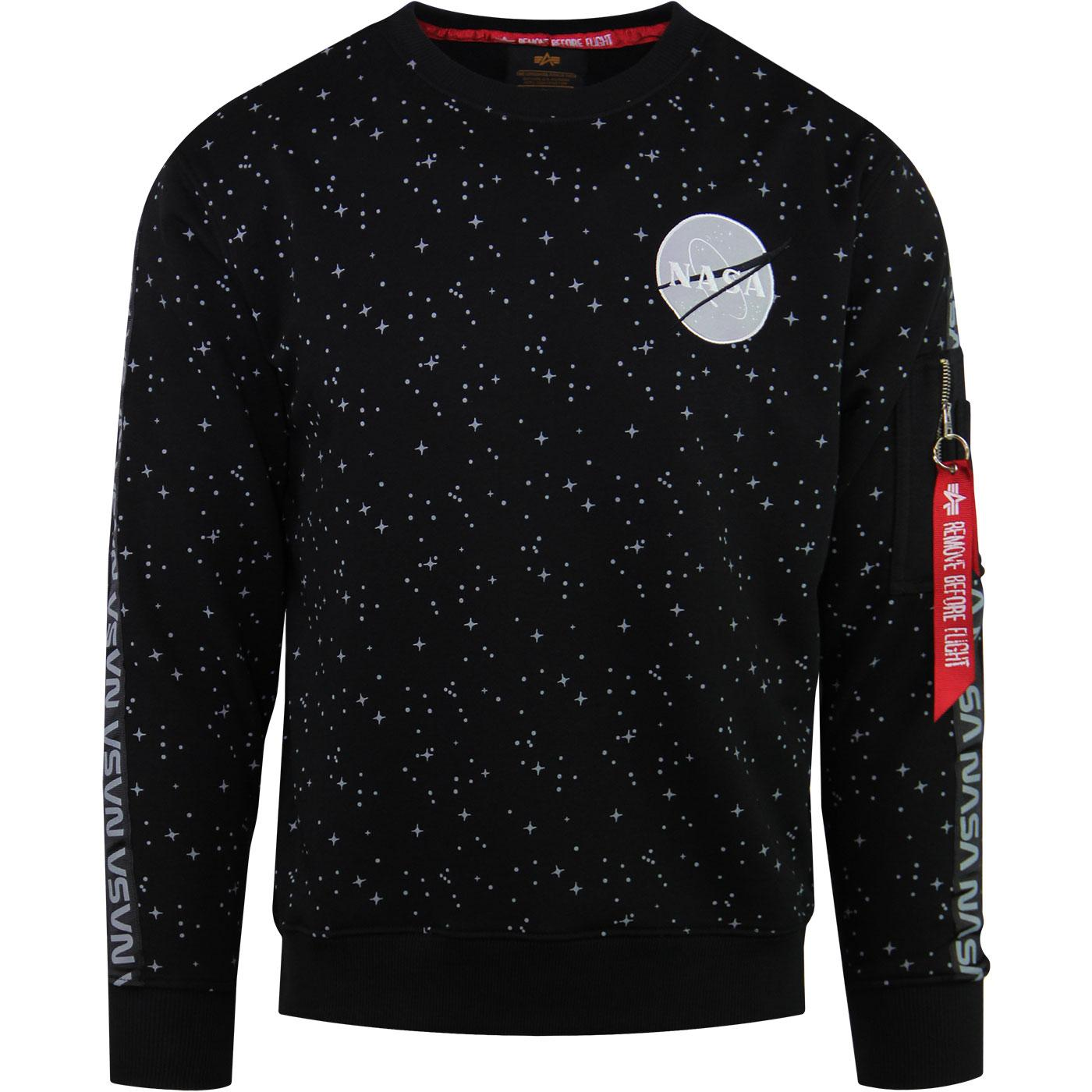 ALPHA INDUSTRIES NASA Tape Sweater in black